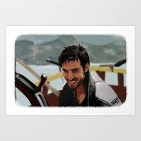 hook Art Prints featuring Hook by MagnoliaRuby