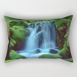 Waterfall in the forest Rectangular Pillow