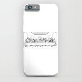 Last Supper Outline Sketch iPhone Case