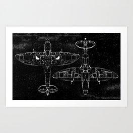 Spitfire Mk. XIV (Dark) Art Print