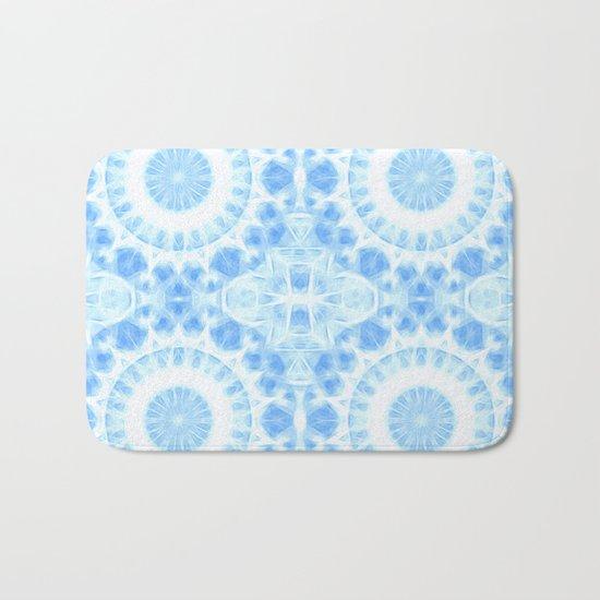 Peaceful blue mandala Bath Mat