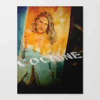 cocaine Canvas Prints featuring cocaine by ARTito
