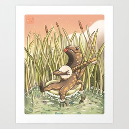 Banjo brushy Art Print