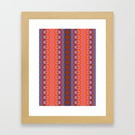Vibrant blue and orange pattern Framed Art Print