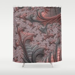 NETHER copper grey fantasy land Shower Curtain