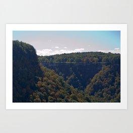 The Split Valley I Art Print