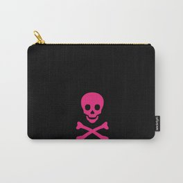 SKULL - BLACK & HOT PINK Carry-All Pouch