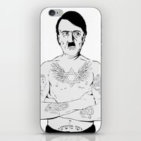 jewish iPhone & iPod Skins featuring Adolf Hitler Jewish Tattoo by Jacinta Stokes