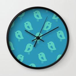 Little Birds (blue) Wall Clock