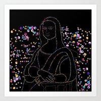 mona lisa Art Prints featuring Mona Lisa by Ornaart