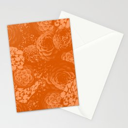 Moody Florals in Orange Stationery Cards