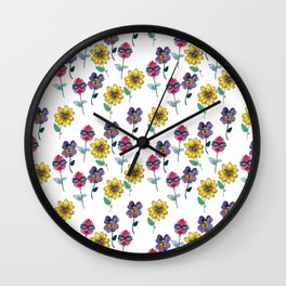 sassy floral Wall Clock