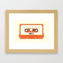 Orange Cassette #1 Framed Art Print