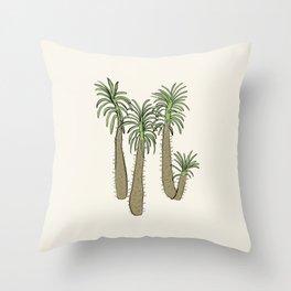 madagascar palm Throw Pillow