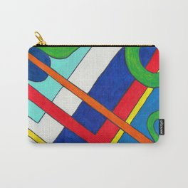 Abstract in green frame r 1 Carry-All Pouch