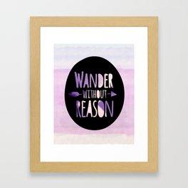 wander without reason purple haze Framed Art Print