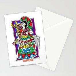 Madhubani Painting / Painting of Shailputri Mata / Navratri Special / Madhubani Hub Stationery Cards