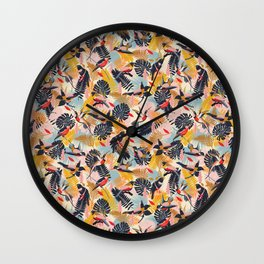 Paradise Birds II. / Small Scale Pattern Wall Clock