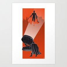 Meeting At Summit (Heroes & Movies) Art Print