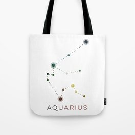 AQUARIUS STAR CONSTELLATION ZODIAC SIGN Tote Bag