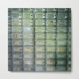 PO boxes Metal Print