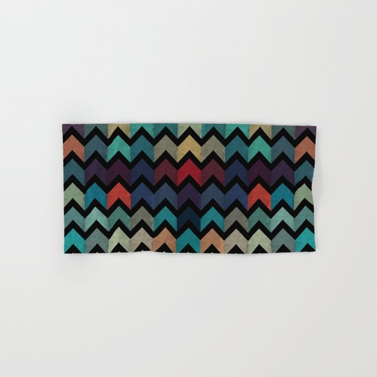 Colorful Chevron Pattern Hand & Bath Towel