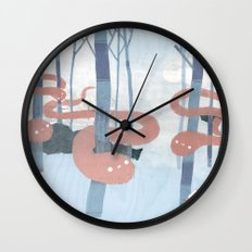 Snakes in the Forest Wall Clock