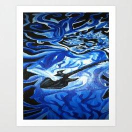 Jerry Garcia Blues Acrylic Painting Grateful Dead Art Print