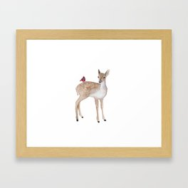 Little fawn Framed Art Print