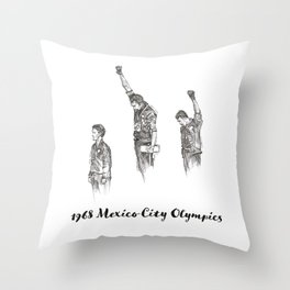 1968 Mexico Olympics Throw Pillow