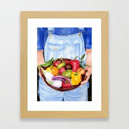 Fruits of Her Labour Framed Art Print
