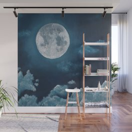 Moonlight, night, oil painting by Luna Smith, LuArt Gallery, Lunar Year, Moon, Valentine's Day Wall Mural