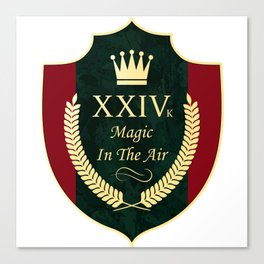 24 karat magic in the air (XXIV k song lyrics) Canvas Print