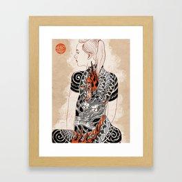 Woman dragón  Framed Art Print