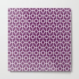 Byzantium Purple Lattice Pattern Design Metal Print