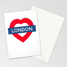 London Underground - Heart Stationery Cards