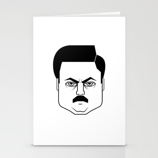 Ron Swanson Stationery Cards