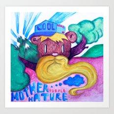 Mother purple nature Art Print
