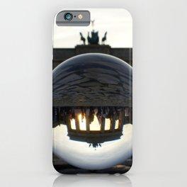 Brandenburg Gate, Berlin Germany / Glass Ball Photography iPhone Case