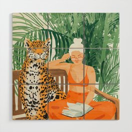 Jungle Vacay #painting #illustration Wood Wall Art