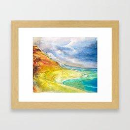 Vibrant colourful coastal landscape Framed Art Print