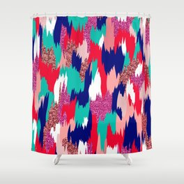 Elena Abstract Shower Curtain