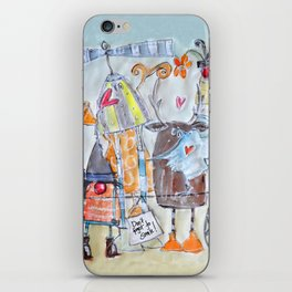 Don't forget to smile! iPhone Skin