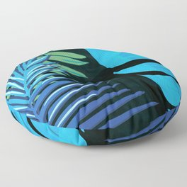 TROPICAL LEAVES & BLACK no3c1 Floor Pillow