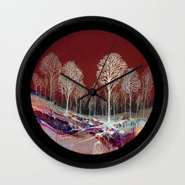 Spring Snow Wall Clock