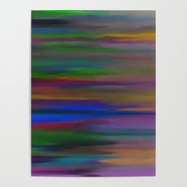Lucid mixed colors Poster