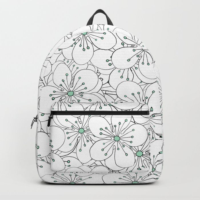 Cherry Blossom Mint Backpack