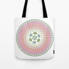 Retro floral circle 1 Tote Bag
