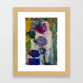 Indigo and lilac Framed Art Print