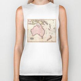 Vintage Map of Australia (1818) Biker Tank